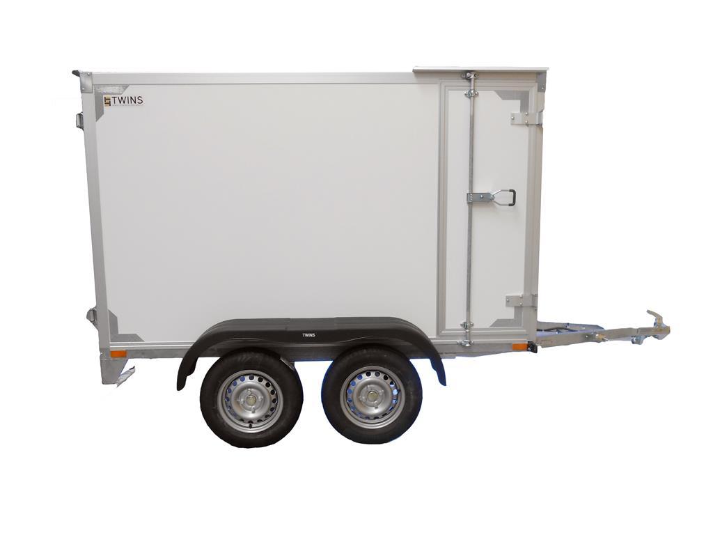 twin remorque bac fermee double essieux non freinee 257x132x150 cm porte laterale lenaerts. Black Bedroom Furniture Sets. Home Design Ideas