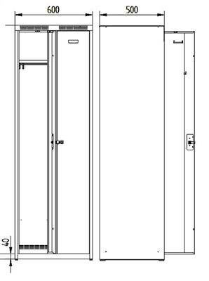 Alfa3 garderobe 2 portes 60 cm lenaerts blommaert n v for Garderobe 60 cm